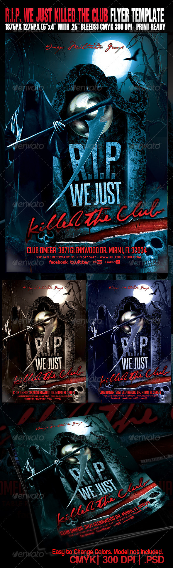 GraphicRiver R.I.P We Just Killed The Club 5468124