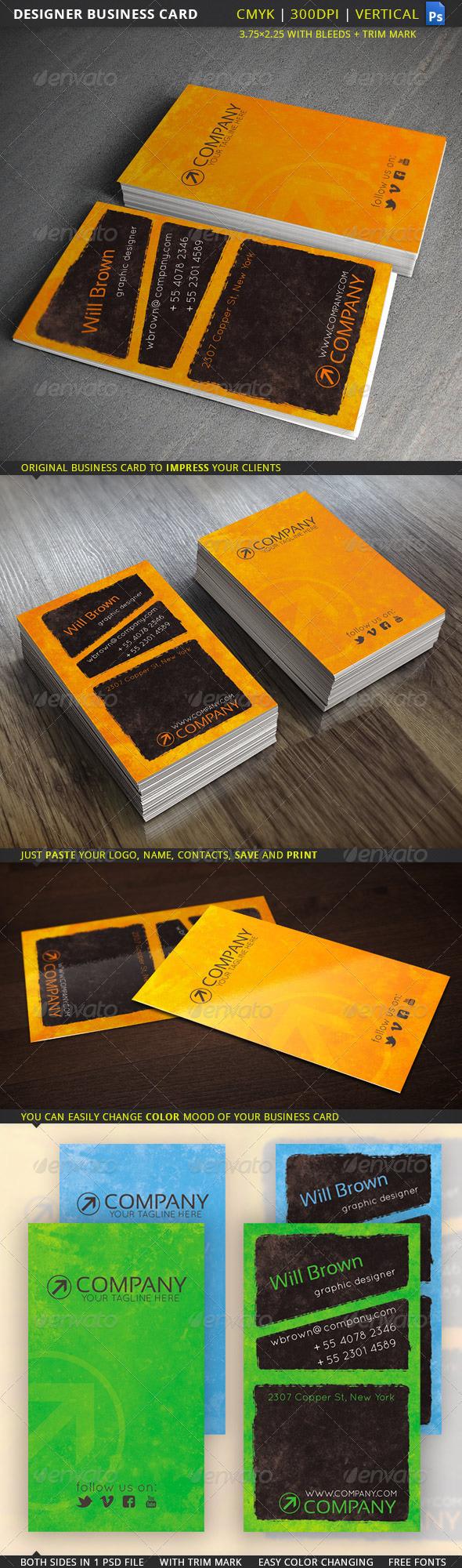 GraphicRiver Designer Business Card 5468182