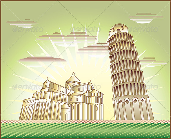GraphicRiver Leaning Tower of Pisa 5468374