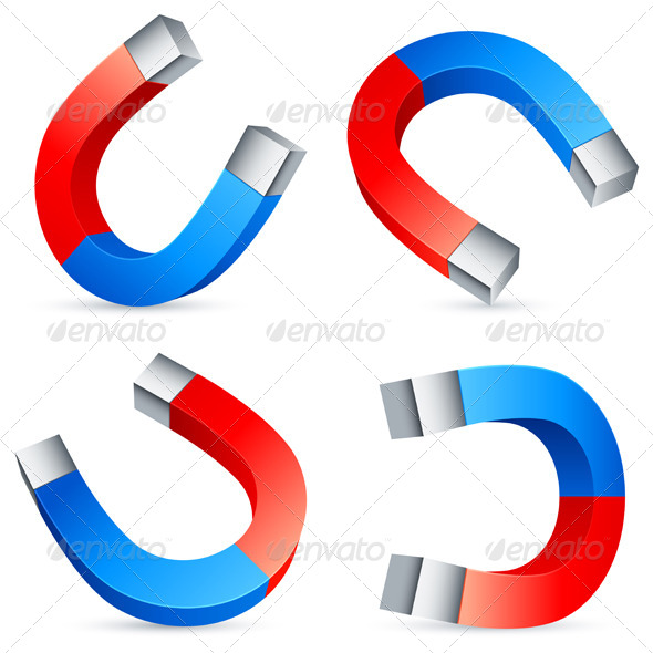 GraphicRiver Horseshoe Magnets 5468379