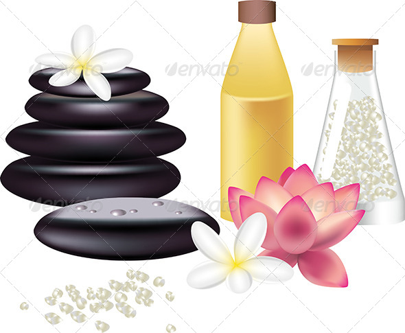 GraphicRiver Spa Still Life Isolated on White 5468380