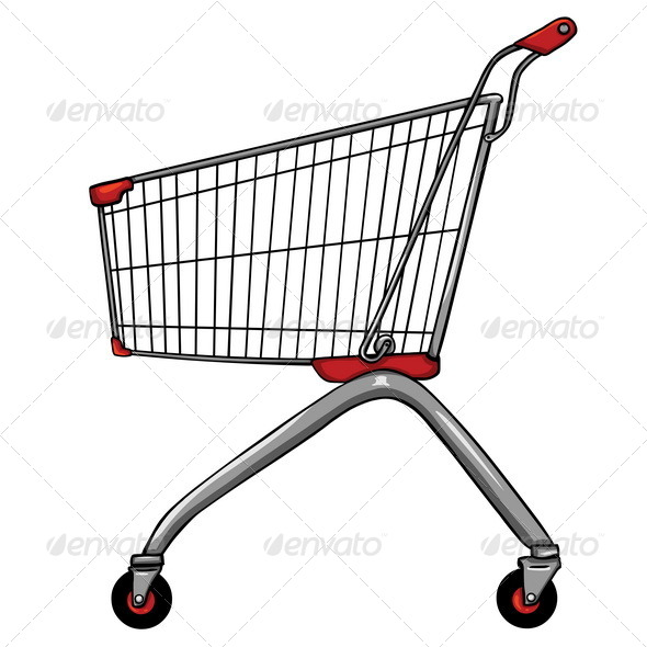 GraphicRiver Vector Trolley for Shopping 5457489