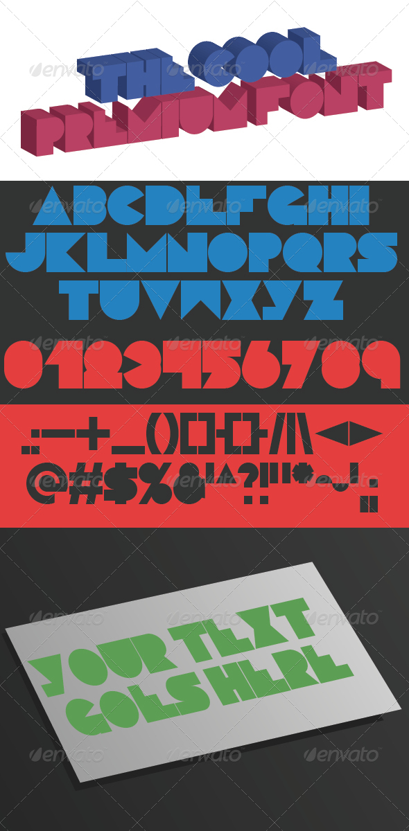 GraphicRiver The Cool Premium Font 5468544