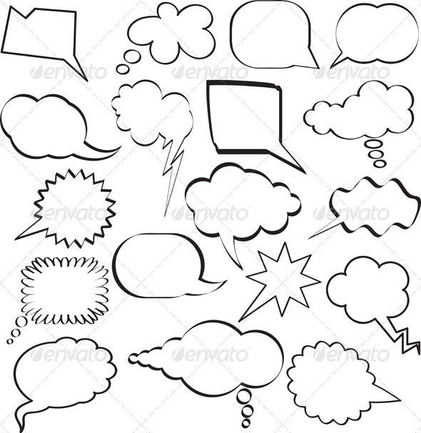 GraphicRiver Cartoon Speech Bubbles 561397
