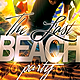 Last Beach Party Flyer Template - GraphicRiver Item for Sale