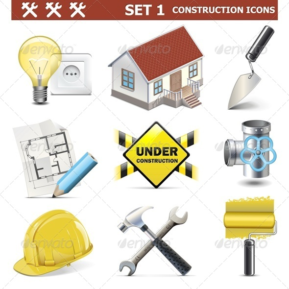 GraphicRiver Vector Construction Icons Set 5469245