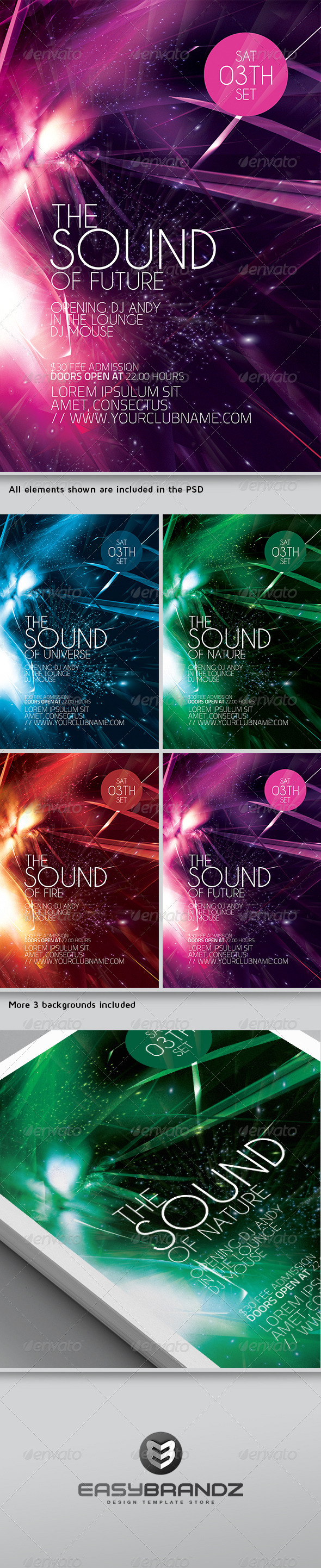 Futuristic Flyer Template Vol.01 - Events Flyers