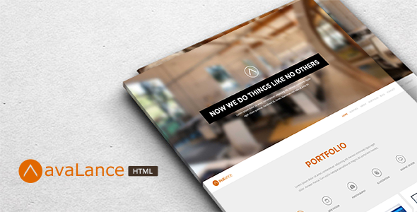 Avalance - Responsive Portfolio HTML Template