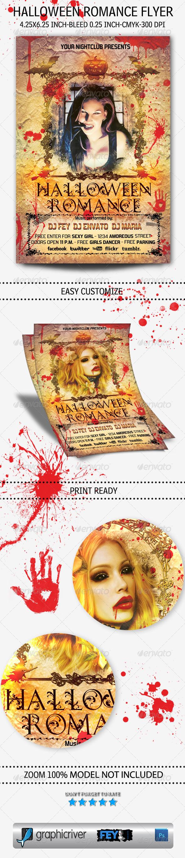 GraphicRiver Halloween Romance Flyer 5450721