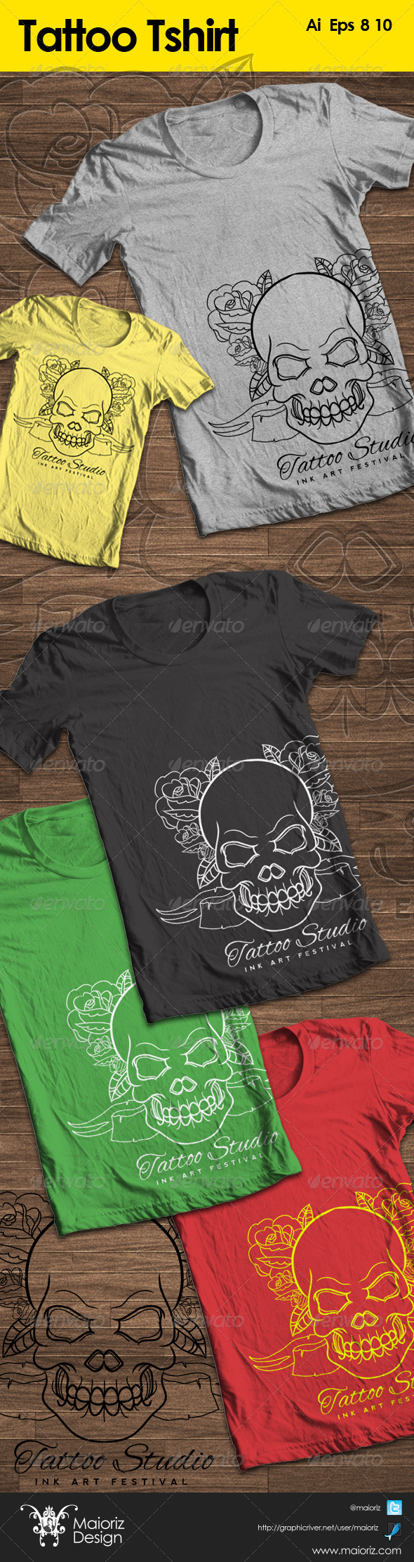 GraphicRiver Tattoo Tshirt Promote 5452652
