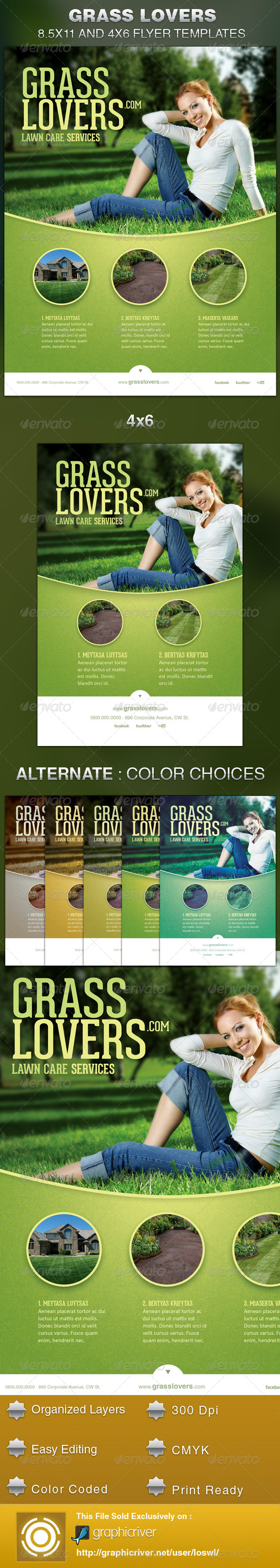 GraphicRiver Grass Lovers Corporate Flyer Template 5469541