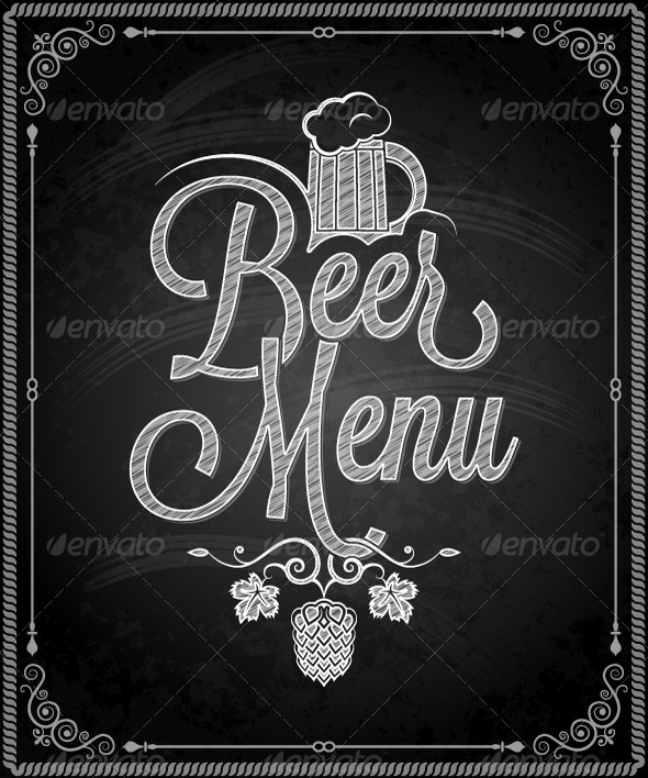 GraphicRiver Chalkboard Frame Beer Menu 5469629