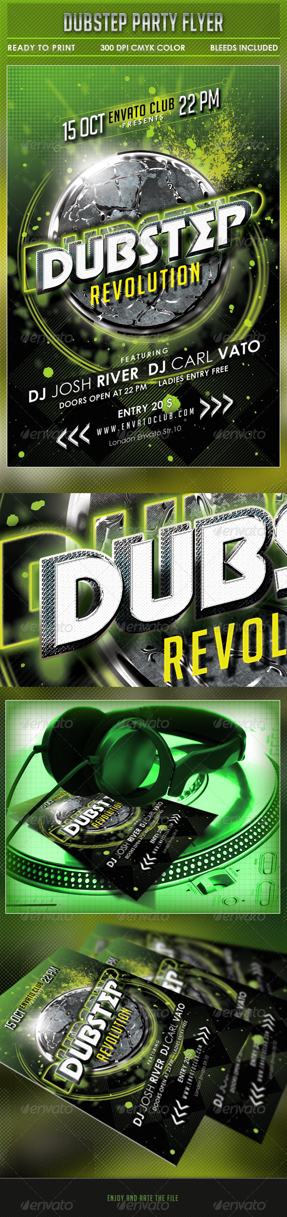GraphicRiver Dubstep Party Flyer 5449194