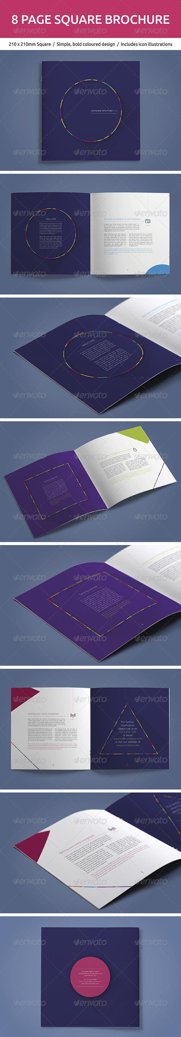 GraphicRiver 8 Page Square Brochure 5470165
