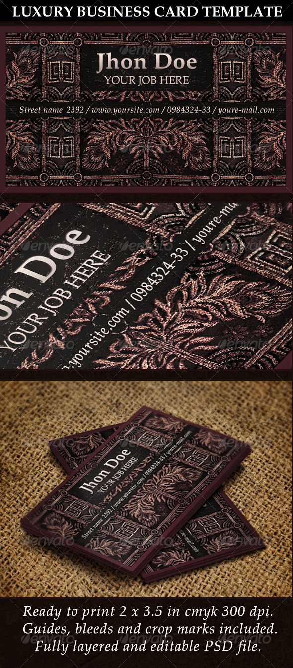 GraphicRiver Luxury Business Card Template 5470179