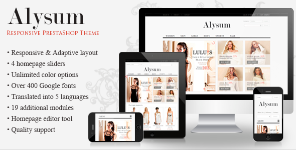 Alysum - Premium Responsive PrestaShop Template - Shopping PrestaShop