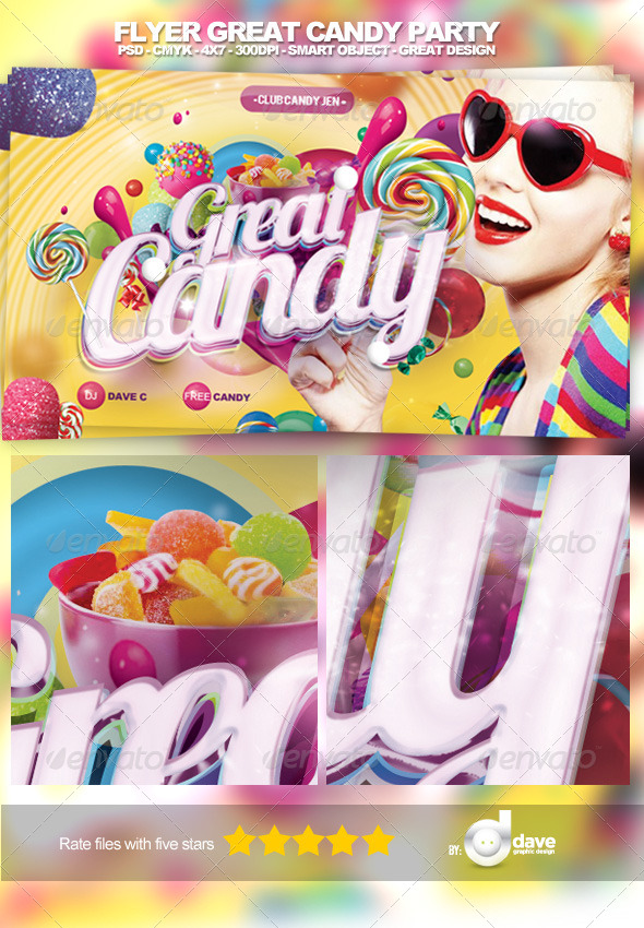 Flyer Great Candy Party - Clubs & Parties Events