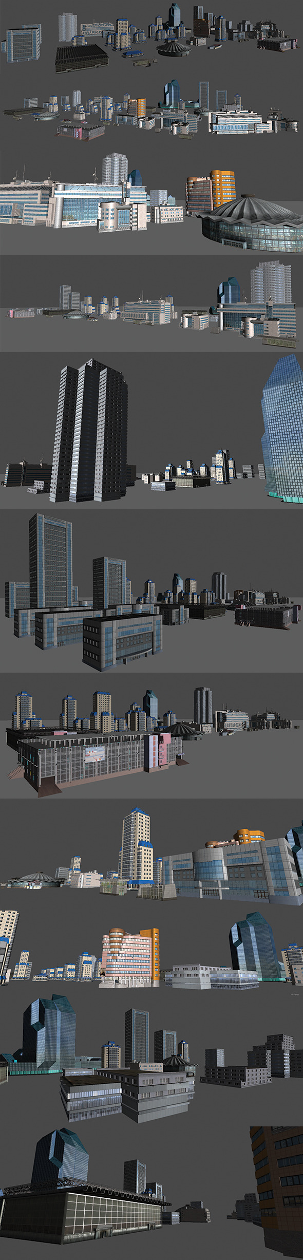 City Buildings Pack - 3DOcean Item for Sale