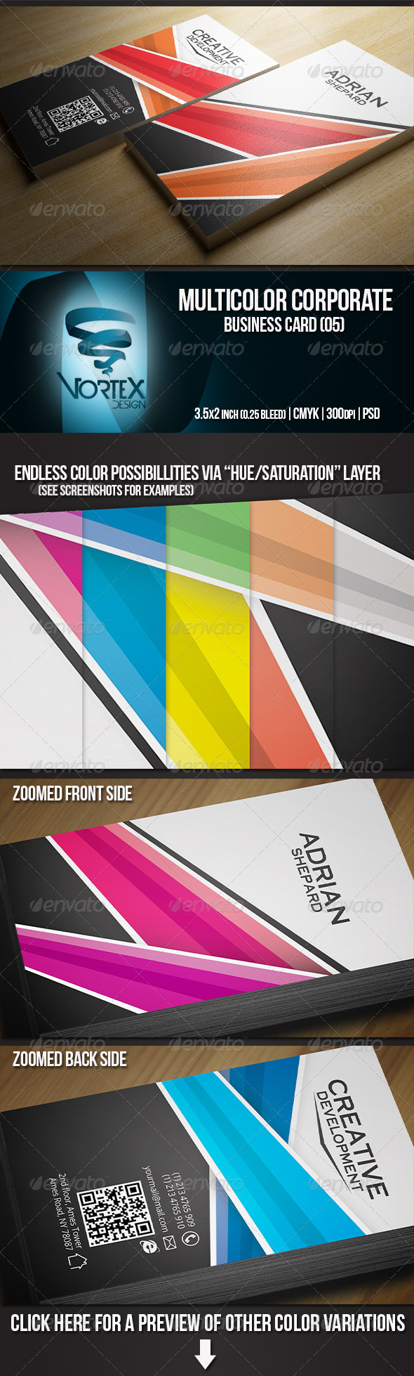 GraphicRiver Multicolor Corporate Business Card 05 5470475