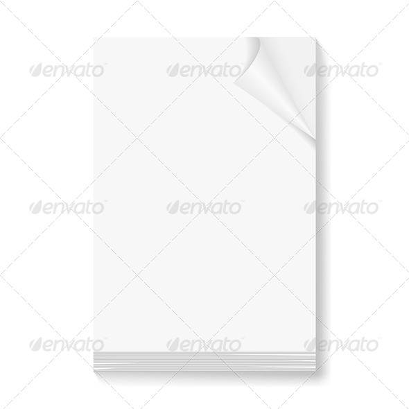 GraphicRiver Stack of Blank Paper Sheets 5470488
