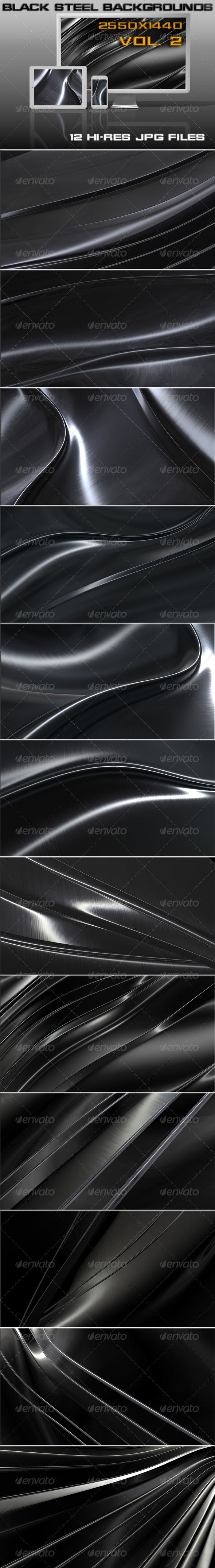 GraphicRiver Black Steel Background 5470641