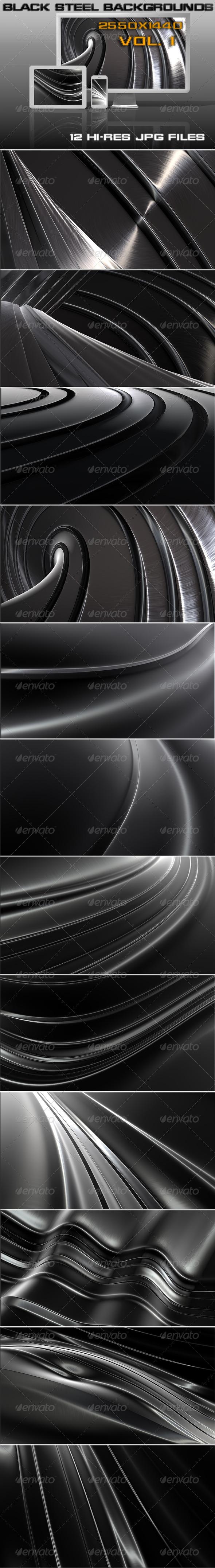 GraphicRiver Black Steel Background 5470646