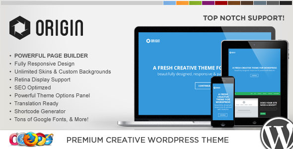 WP Origin Responsive Creative WordPress Theme