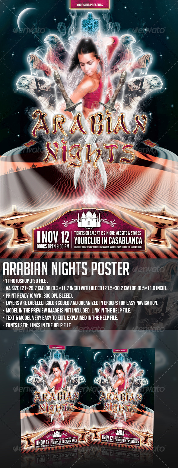 GraphicRiver Arabian Nights Poster 5454017