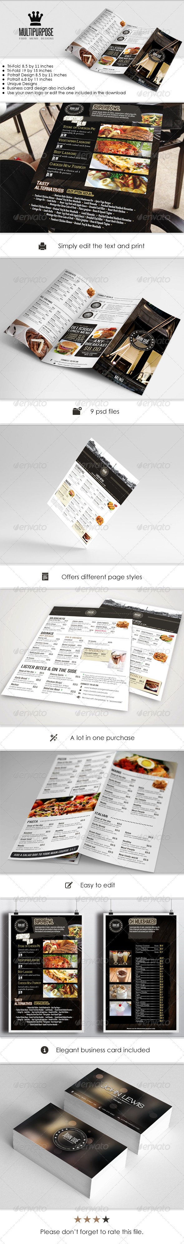 GraphicRiver Menu Pack 5429421