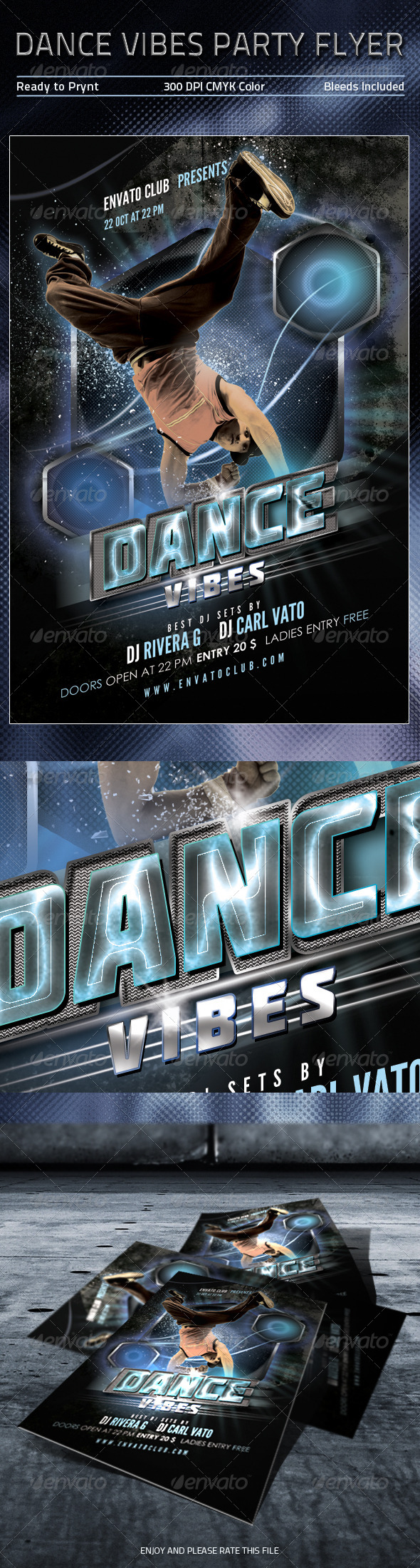 GraphicRiver Dance Vibes Party Flyer 5471046