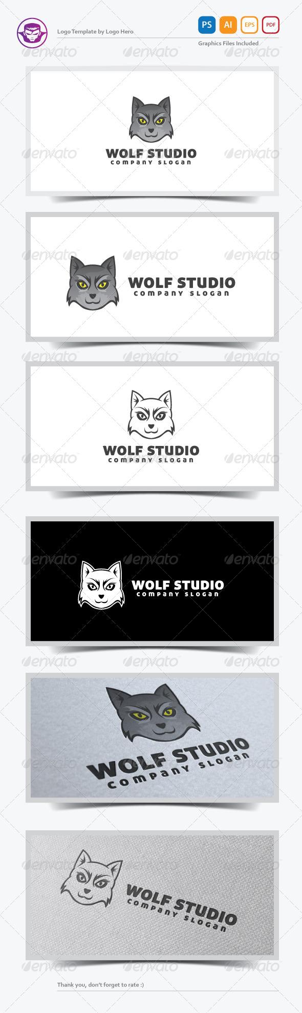 GraphicRiver Wolf Studio Logo Template 5471120