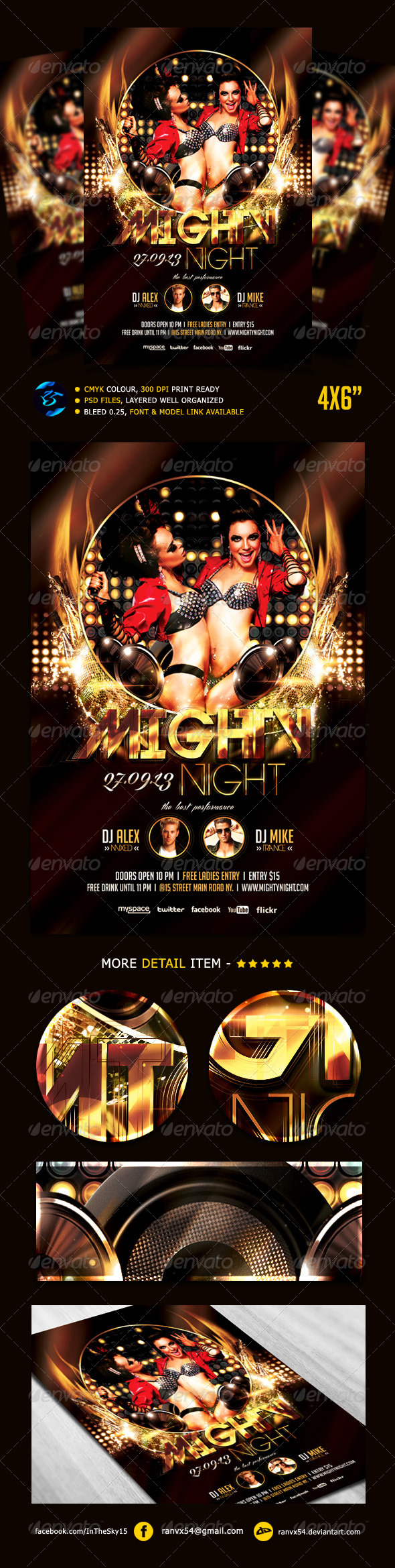 GraphicRiver Mighty Night Flyer Template 5471158