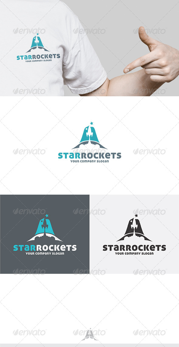Star Rockets Logo - Letters Logo Templates
