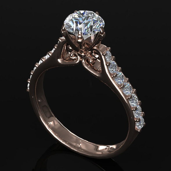 CK Diamond Ring 003 - 3DOcean Item for Sale