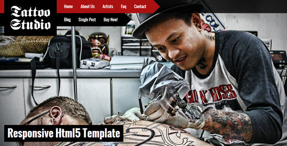 Tattoo Studio - Responsive HTML5 Template - Art Creative