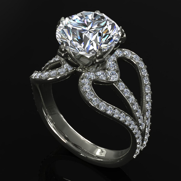 CK Diamond Ring 004 - 3DOcean Item for Sale