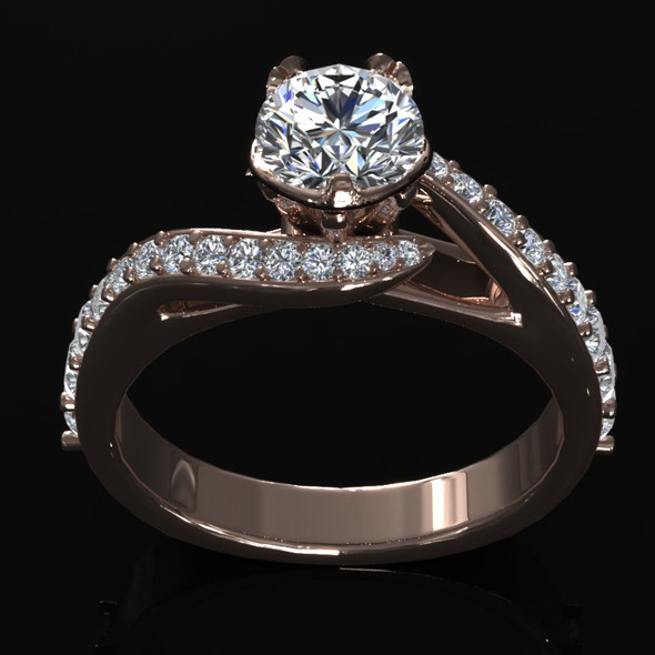 CK Diamond Ring 005 - 3DOcean Item for Sale