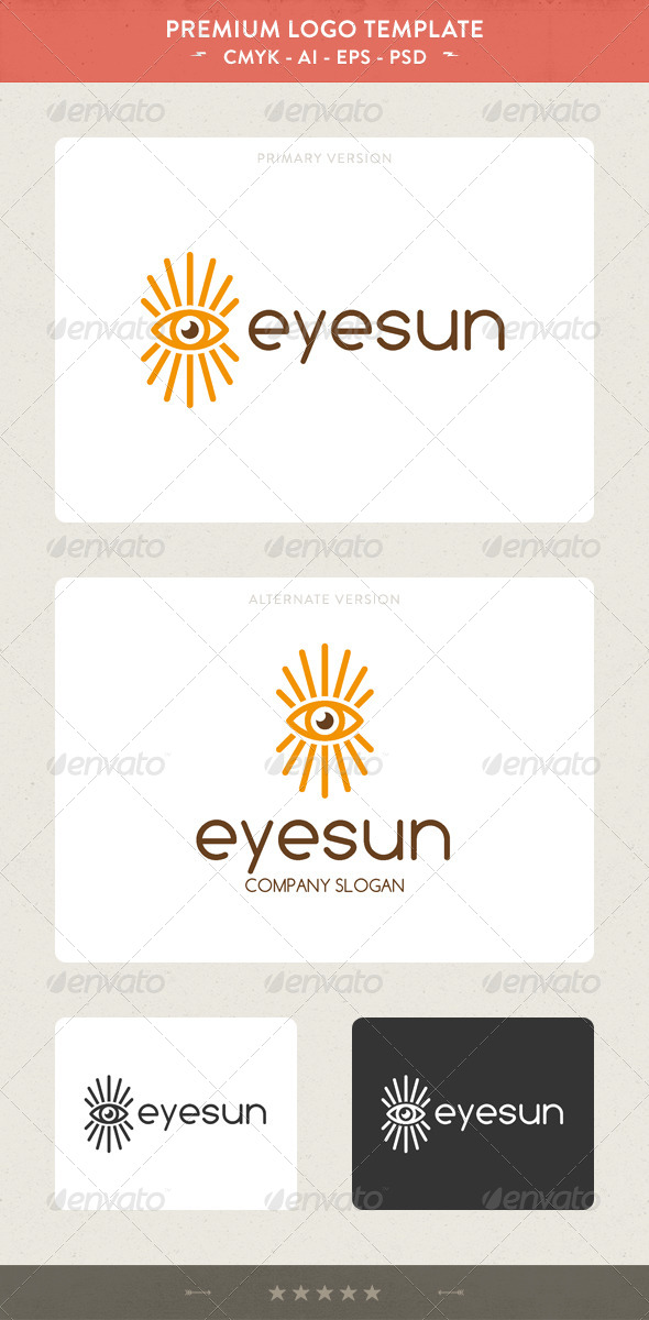 GraphicRiver Eye Sun Logo Template 5471389