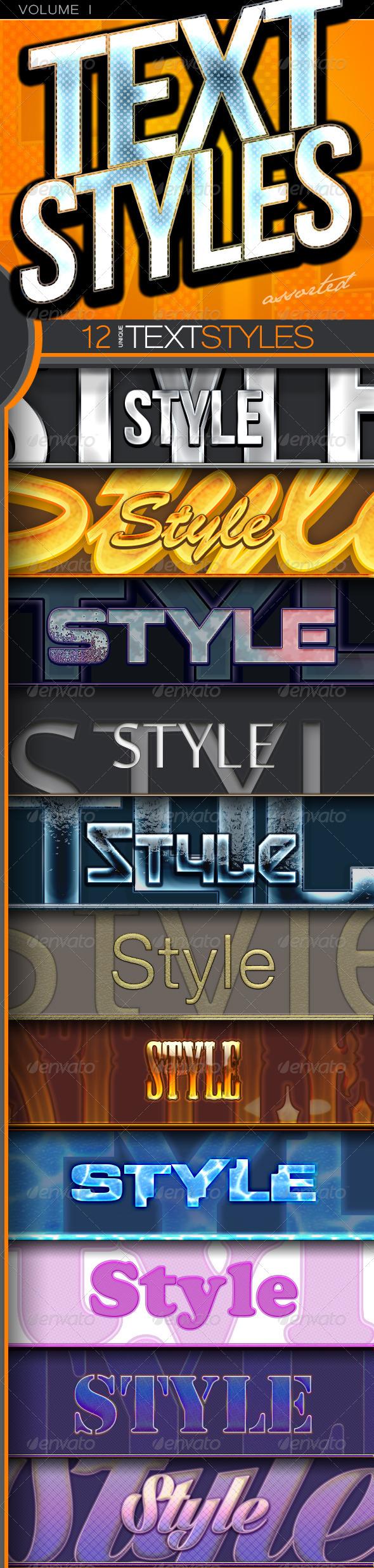 GraphicRiver C12 Text Styles Volume 1 5471435
