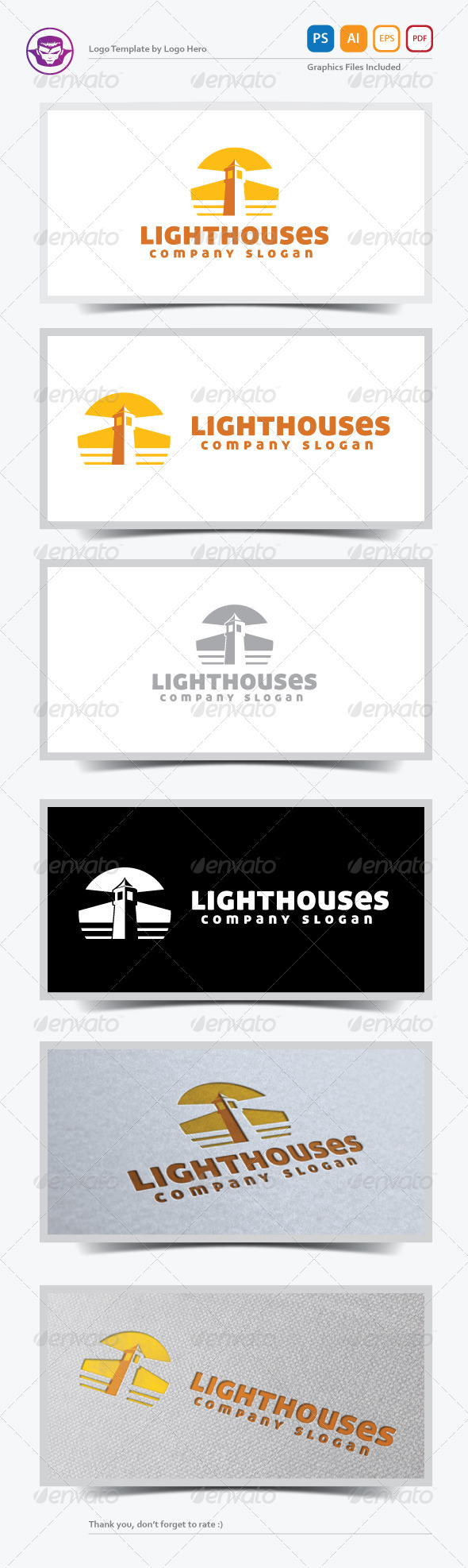 GraphicRiver Lighthouses Logo Template 5471538