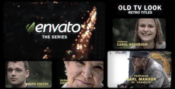 Old Tv Look Retro Titles
