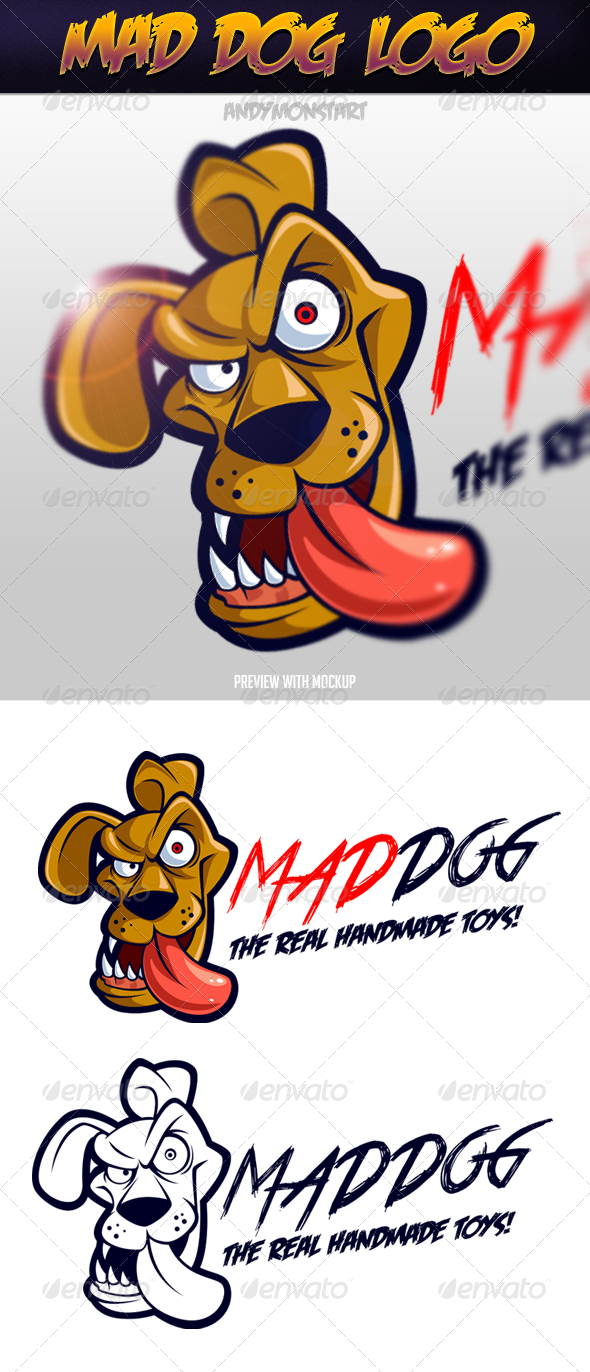 GraphicRiver Mad Dog Logo 5471561