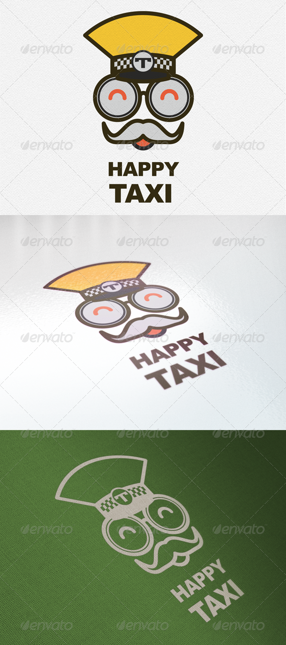 GraphicRiver Happy Taxi Logo 5458401