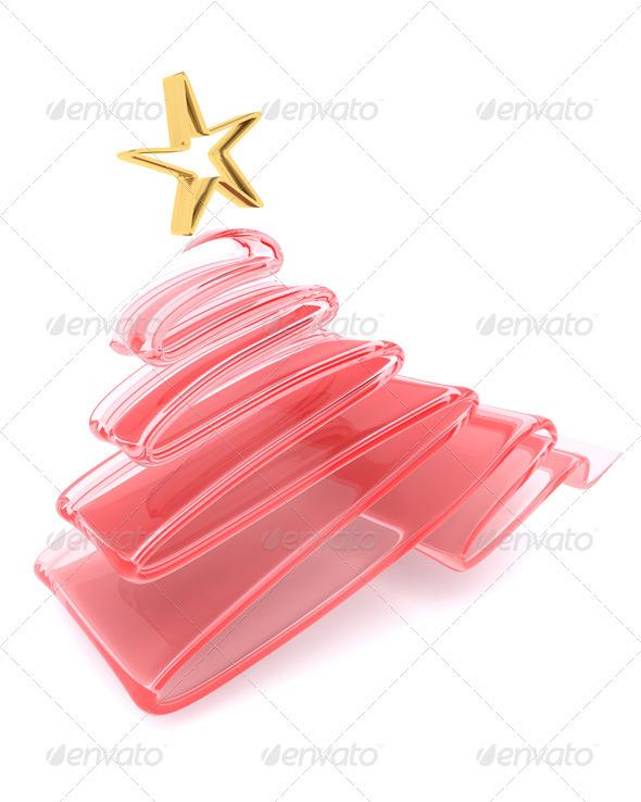 Glass Scribble Christmas Tree