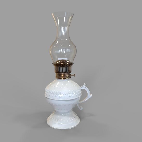 Modelo 3D de Lámpara de Aceite