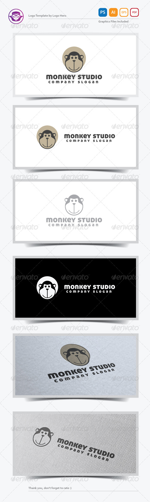 GraphicRiver Monkey Studio Logo Template 5472027