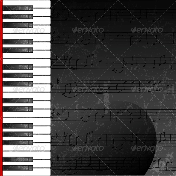 GraphicRiver Grunge Abstract Background with Piano Keys 5472032