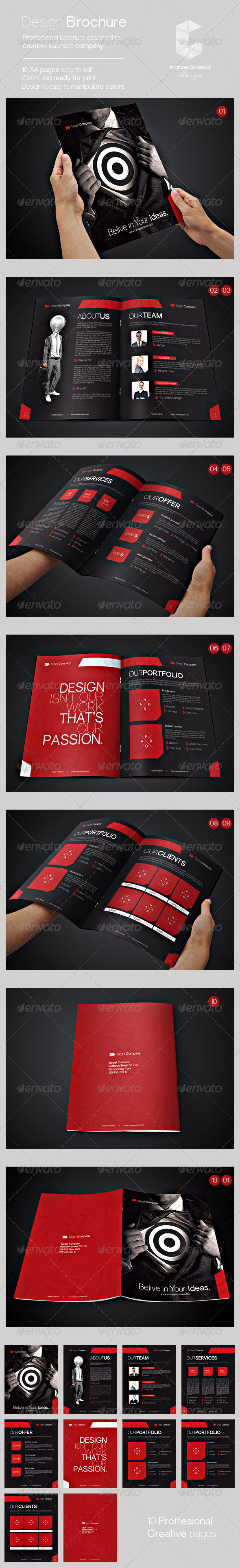 GraphicRiver Proffesional Brochure Template 5472243