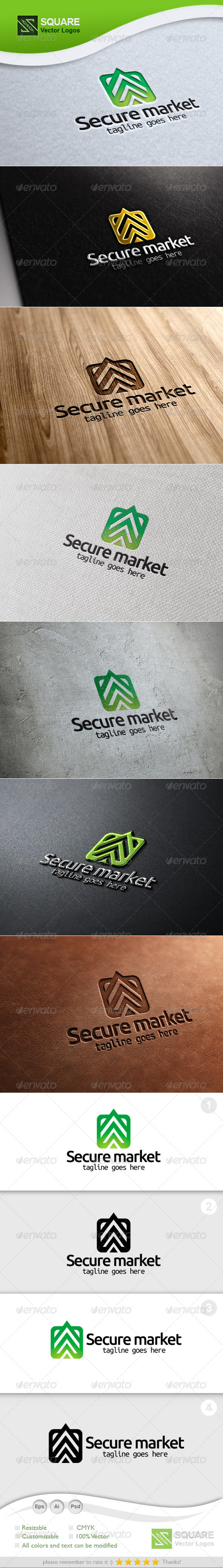 GraphicRiver Secure Market Vector Logo Template 5472342