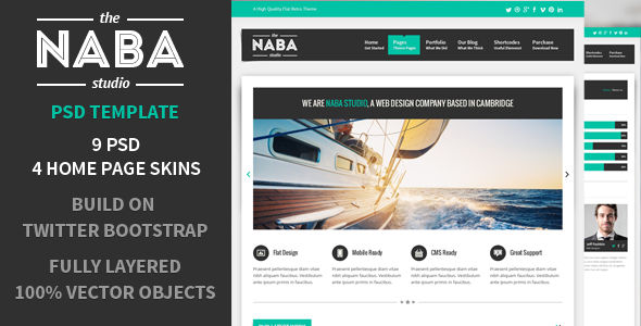Naba:Multipurpose PSD Business Theme - Business Corporate
